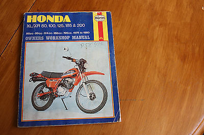Haynes workshop manual Honda XL/XR 80 - 200 1978 - 80