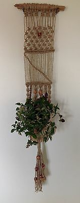Chunky Handcrafted Macrame Wall Plant/basket Hanger - Unusual Gift Idea