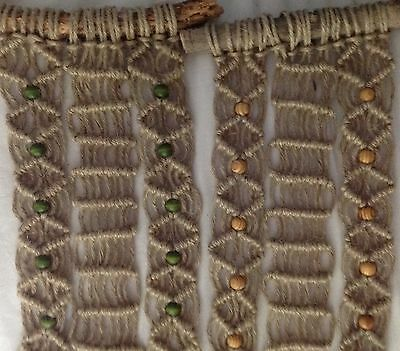 Handcrafted Chunky Macrame Wall Plant/basket Hanger - Unusual Gift Idea