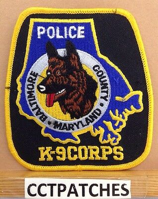 Baltimore County, Maryland Police K-9 Corps Shoulder Patch Md