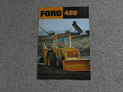 Ford New Holland 420 tractor loader backhoe brochure