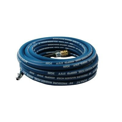 "Pressure Parts 3646-QC 50 ft 3/8"" Blue Non-Marking 4000psi Pressure Washer Hose"