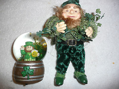 "St Patrick Leprechane Musical Snow Globe (Danny Boy) 12"" Leprechane Figure"