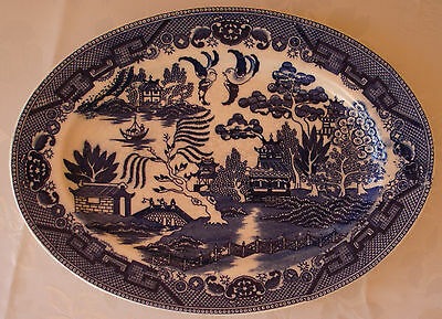 Johnson Brothers Blue Willow Oval Serving Plate