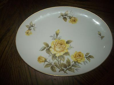 "Harmony House Fine China Yellow Rose 14"" Platter and 10"" Oval Vegetable Bowl EUC"