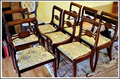 8 Dining Chairs Bernhardt Furniture Solid Mahogany 1920 Antique Registry #361 NC