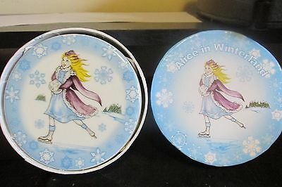 Paul Cardew Alice in Wonderland Winterland  4 Coasters Mad Hatter White Rabbit
