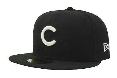 93498105 New Era 59Fifty MLB Cap League Basic Chicago Cubs Mens Black Fitted 5950 Hat