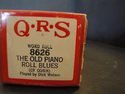 QRS Piano Roll 8626 The Old Piano Roll Blues OY COBIN by Dick Watson