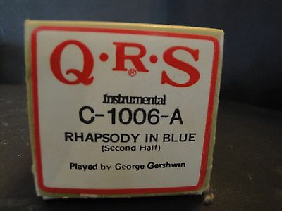 QRS Piano Roll C-1006-A Rhapsody in Blue (Second Half) Played by George Gershwin