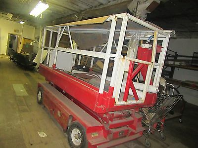 Phoenix Scissor Lift with roll out extension, needs batteries, Works