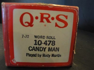 QRS Piano Roll 10-478 Candy Man by Rudy Martin