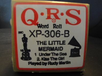 QRS Piano Roll XP-306-B The Little Mermaid 1. Under the Sea 2. Kiss the Girl