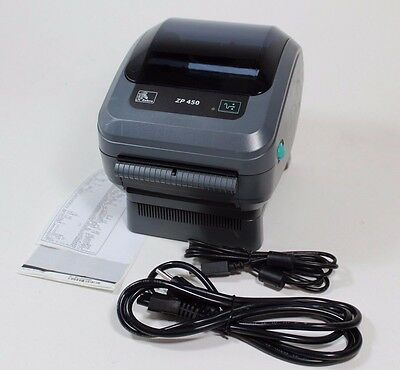 Zebra ZP 450 Thermal Label Barcode Printer -  LESS THAN 300 INCHES PRINTED