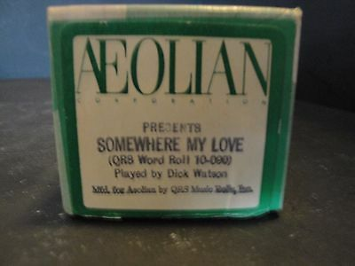 """Aeolian """"Somewhere My Love"""" (QRS 10-090) Piano Roll Played by Dick Watson"""