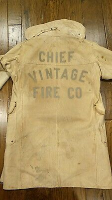 """W. S. Darley & Co. """"CHIEF VINTAGE FIRE CO."""" Firefighter's Turnout Coat RARE!"""
