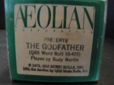 """Aeolian """"The Godfather"""" (QRS 10-473) Played by Rudy Martin Piano Roll"""