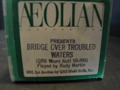 """Aeolian """"Bridge Over Troubled Waters"""" (QRS 10-390) Played by R. Martin"""
