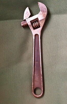 VINTAGE BULLDOG TOOL Co. 8'' Adjustable Wrench  MADE IN WEST GERMANY