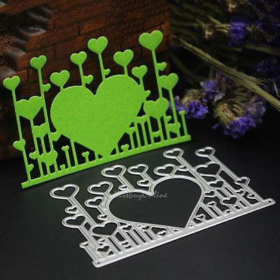 Heart Metal Cutting Dies DIY Stencils Scrapbook Paper Card Decor Embossing Craft
