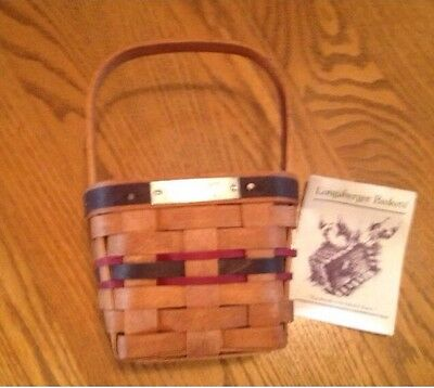 1993 Longaberger Inaugural Basket Combo with Protector, Product Card