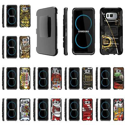 For Samsung Galaxy S Series Rugged Holster Belt Clip Case Armor Gambling Casino