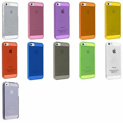 iPhone 5 5G 0.5mm Ultra Thin Matte Hard Case Cover Different colors Lot of 10