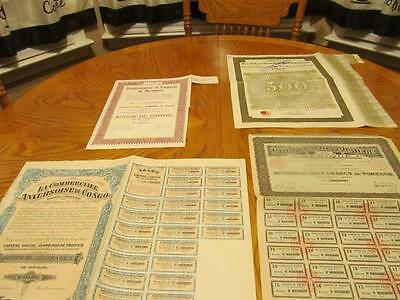 4 World   Bonds /   Stock Certificates; All Different;lot # I
