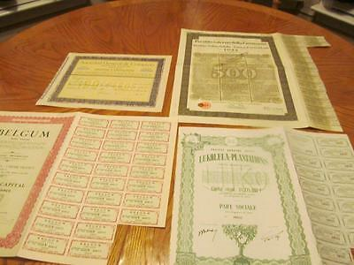4 World   Bonds /   Stock Certificates; All Different;lot # J
