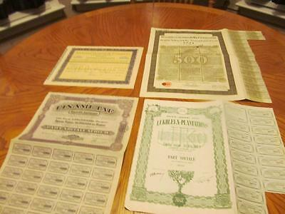 4 World   Bonds /   Stock Certificates; All Different;lot # O
