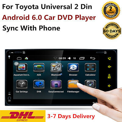 For Toyota Universal 2 Din Android 6.0 Car DVD RAV4/Camry/Corolla/Hilux/Vios Map