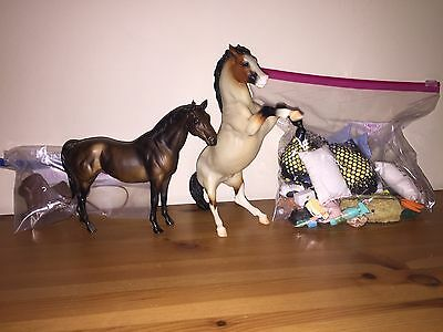 Breyer Horse Lot with 2 Classics and Accesories