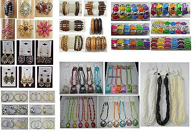 Fashion Jewelry lots 100 Pcs Mixed Earrings Bracelets  and Necklaces wholesale94
