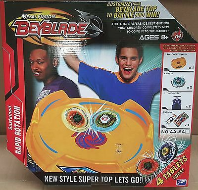 beyblade metal fusion set with battle arena new in box
