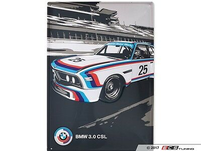 BMW Genuine Motorsport Heritage Metal Plate Wall Hanging Memorabilia 80232445949