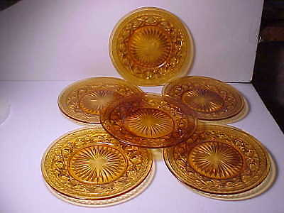 """6 Imperial Cape Cod Amber 8 3/8"""" Plates"""