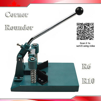 """All Steel R6(1/4"""") R10(3/8"""") Corner Rounder Punch Cutter After Printing Tools"""