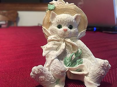 """Enesco Calico Kittens """"Our Friendship Blossomed from the Heart"""" 1992 Hillman"""