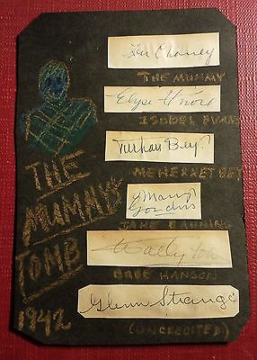 Cast-1942 The Mummys Tomb-Lon Chaney-Turhan Bey-Mary Gordon-Wallace Ford-More