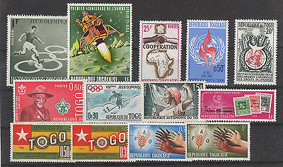 TOGO GOOD LOT STAMPS FROM 1960s MNH