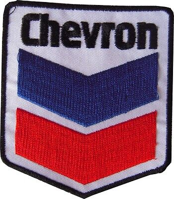 New Chevron Logo embroidered iron on patch. 2.5 x 2.75 inch (i76)