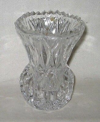 """Crystal Clear 3"""" Pineapple Shaped Toothpick Holder Pie Crust Edge"""