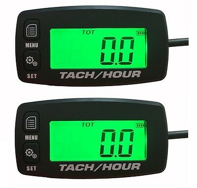 2x Tach Hour Meter Tachometer RPM Display Motorcycle ATV Dirtbike Buggy Outboard