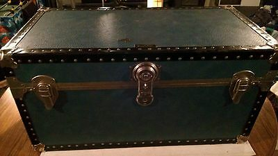 Vintage Blue Trunk By The Unbreakabke Trunk & Luggage Company