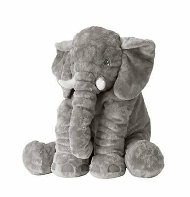 "Elephant Pillow Cushion XL 24"" Large Stuffed Doll Toy Baby Kids Soft Plush Gift"