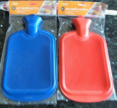 1.7L Hot Water Bottle With Cover - Warm Cosy Case Winter Natural Rubber Fleece