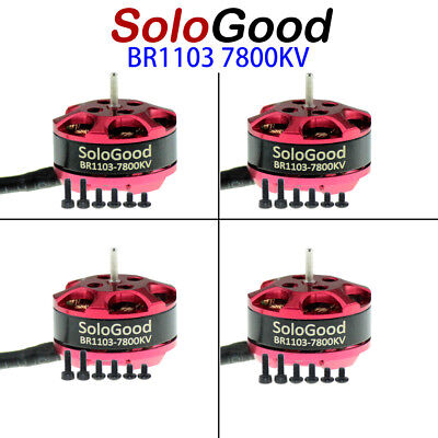 4Pcs SoloGood BR1103 7800kv Brushless Motor CW CCW for RC Mini Quadcopter Drone