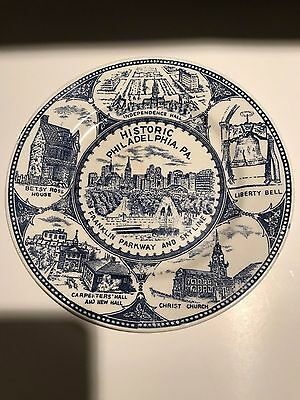 Philadelphia Pennsylvania plate and collectible 7 inch