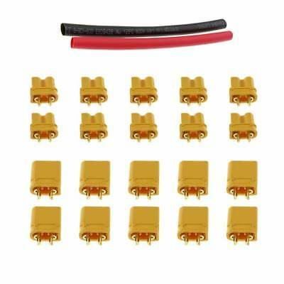 10 Pairs Amass XT30 XT30U Bullet Connector Banane Male Female with Heat Shrink