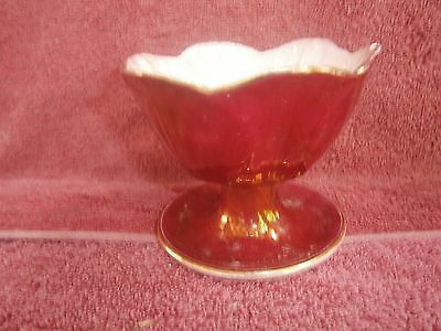 VINTAGE  MALING  ENGLAND  PEDSTAY  SWEETS  BOWL   8cm.